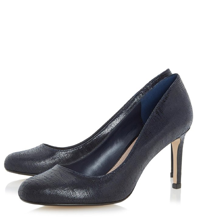 Dune London Navy Aggilera Pump