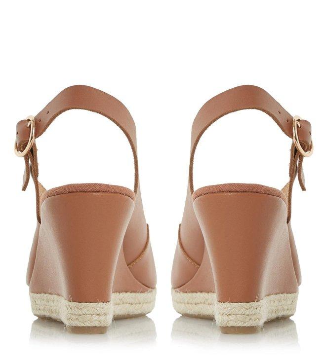 54e70861ab7d Buy Dune London Tan Leather Klick Sling Back Sandal for Women Online ...