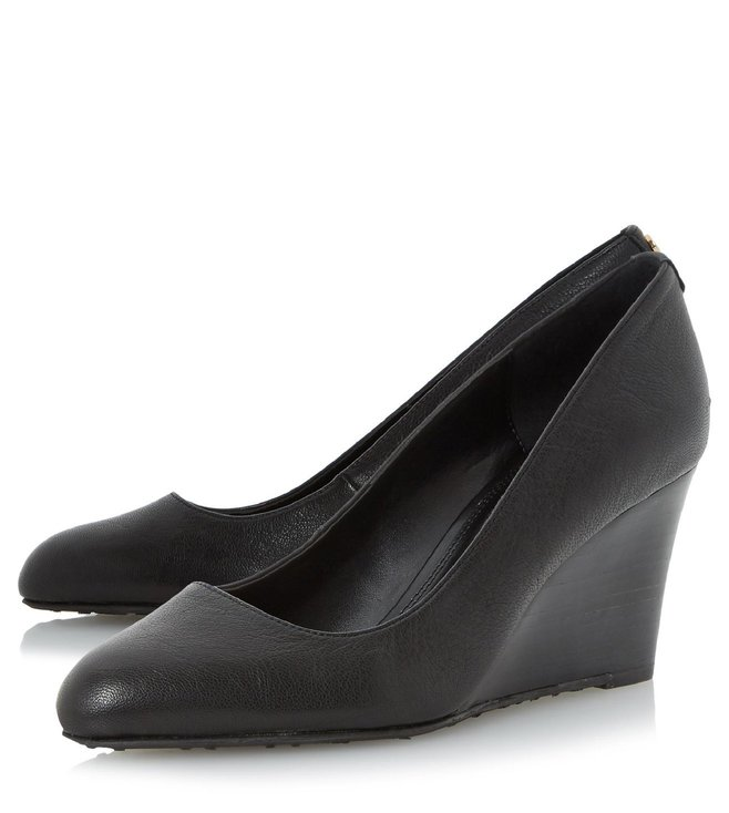 Dune London Black Leather Anisa Pump