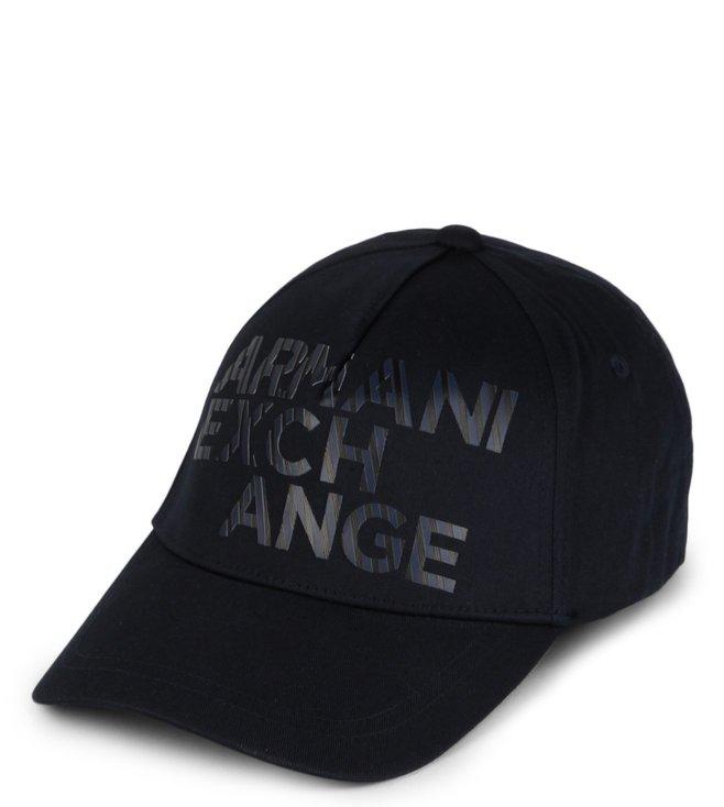 730cab61b565e Buy Armani Exchange Navy Outline Logo Baseball Cap for Men Online ...
