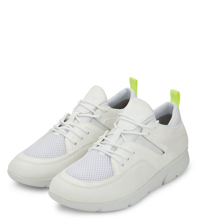 Buy Armani Exchange Bianco Lace-up Sneakers for Men Online   Tata ... e43fbadc430