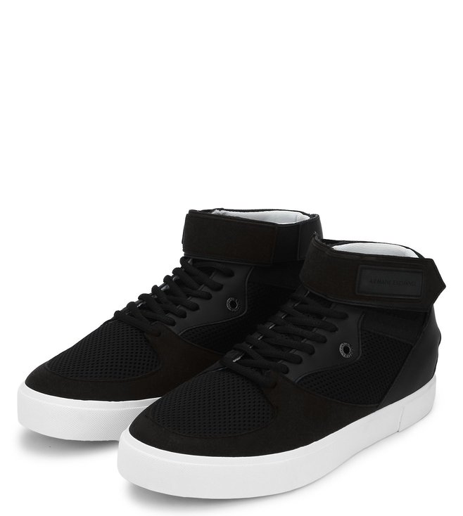 Armani Exchange Nero Suede High Top Sneakers