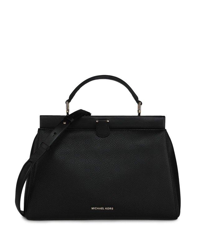 32429b77cfbe Added to Bag. MICHAEL Michael Kors Black Gramercy Frame Large Satchel