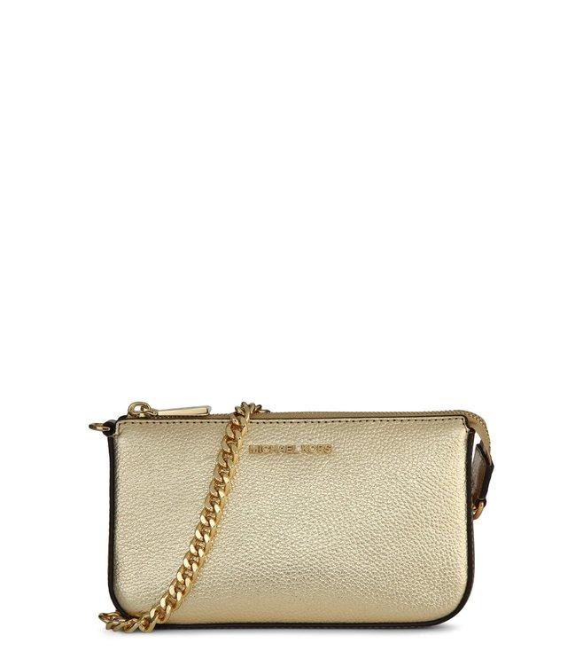 49535d9f231d18 Buy MICHAEL Michael Kors Pale Gold Medium Pouchette for Women Online ...