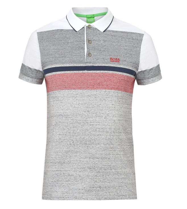 b8f886fc2 Buy Boss Green Grey Slim Fit Paule-1 Polo T-Shirt for Men Online ...
