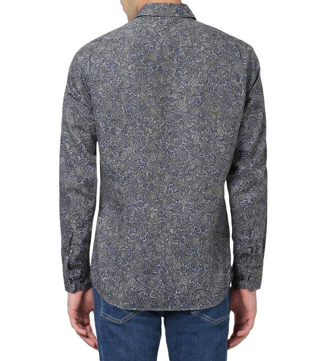 91d5d79c Buy Hugo Boss Blue Regular Fit Lukas Shirt for Men Online @ Tata ...