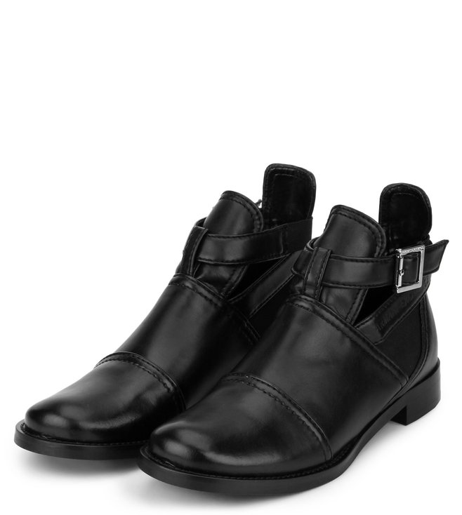 fd4ee6931f Buy Armani Exchange Nero Ankle Strap Booties for Women Online @ Tata ...