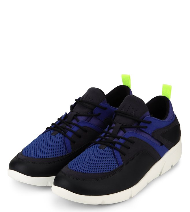 Buy Armani Exchange Sky Captain Mesh Lace-Up Sneakers for Men Online ... 8c325aa23f7