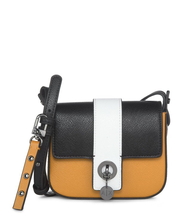 Buy Armani Exchange Multicolor Textured Leather Crossbody Bag for ... e99fb5e19a91d