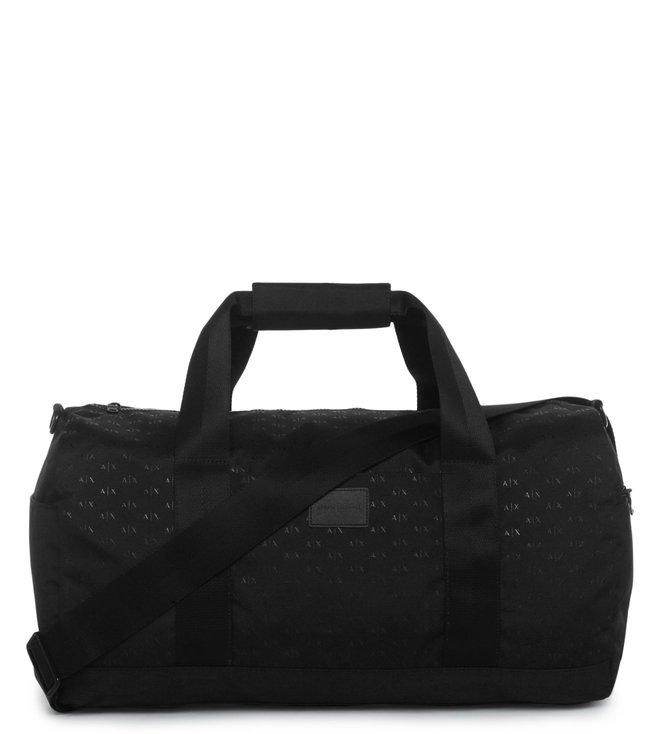 2a066d7e45c7 Buy Armani Exchange Nero Logo Print Duffle Bag for Men Online   Tata ...