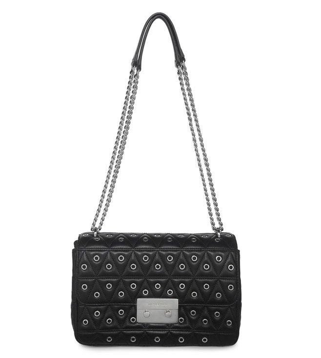 578160a2ec9b Buy MICHAEL Michael Kors Black Sloan Leather Large Shoulder Bag for ...