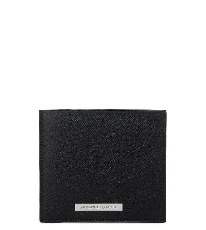 Buy Armani Exchange Nero Billfold Wallet for Men Online   Tata CLiQ ... 4b9aa058bca7f