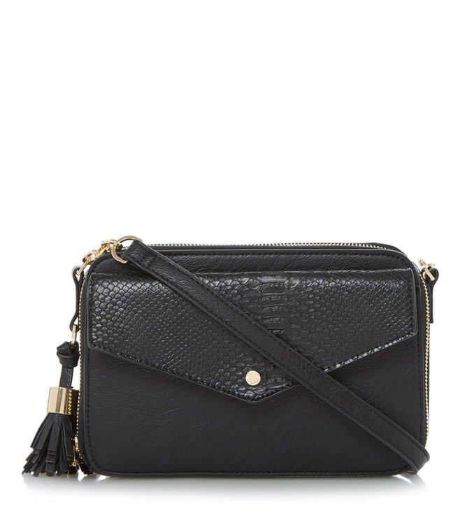 614e45973 Added to Bag. Dune London Black Plain Synthetic Small Dottie Crossbody Bag