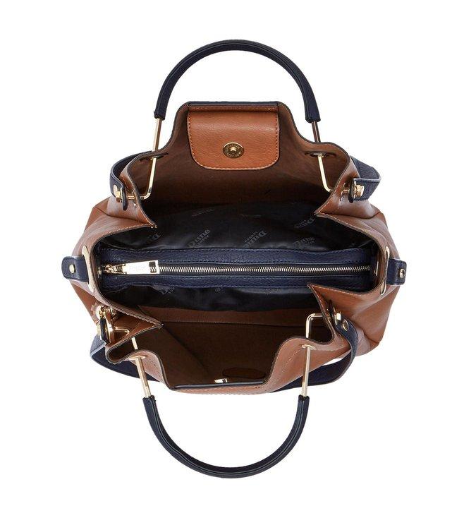 Buy Dune London Tan Synthetic Large Daura Shoulder Bag for Women ... 553b31e68e