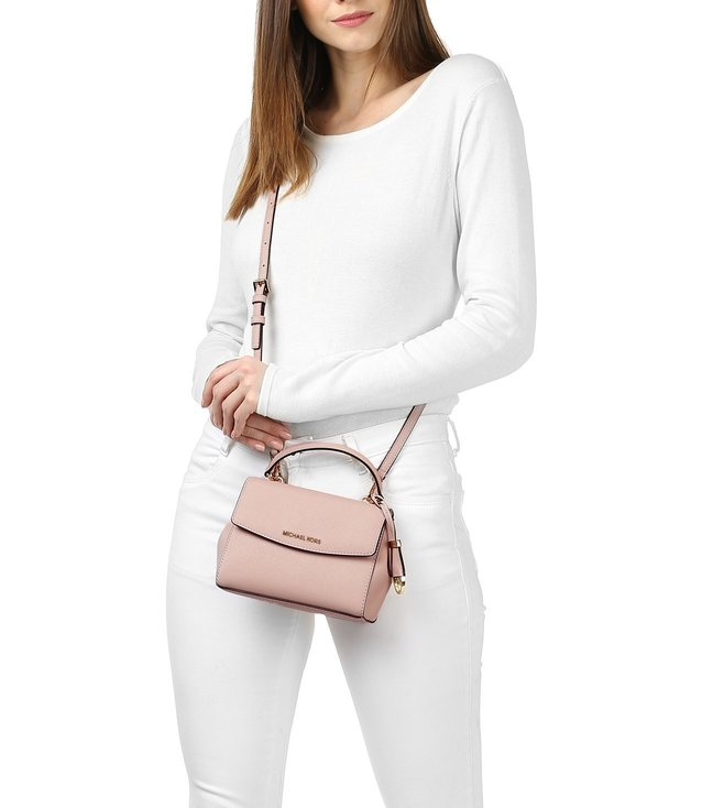 aacb635b79ab Buy Michael Michael Kors Ava Soft Pink Extra Small Crossbody Bag for ...