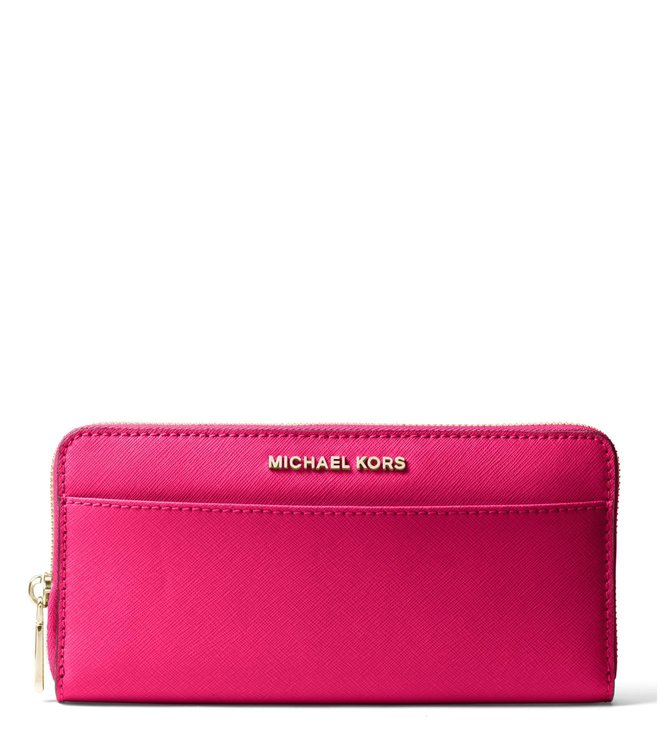 0976b3df0b4174 Added to Bag. MICHAEL Michael Kors Ultra Pink Jet Set Leather Small Wallet