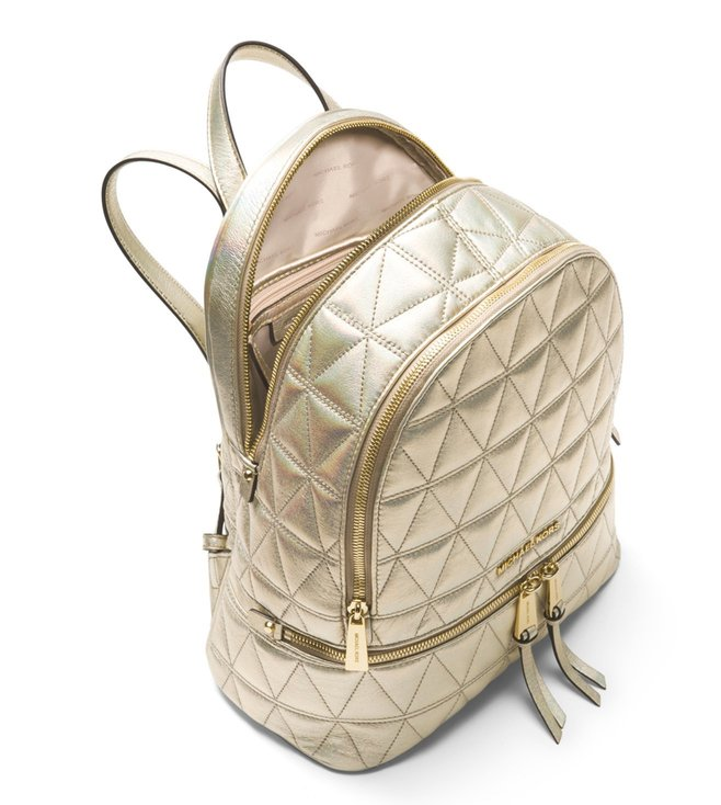 a0eeb83107a59 Buy MICHAEL Michael Kors Pale Gold Rhea Zip Leather Backpack for ...