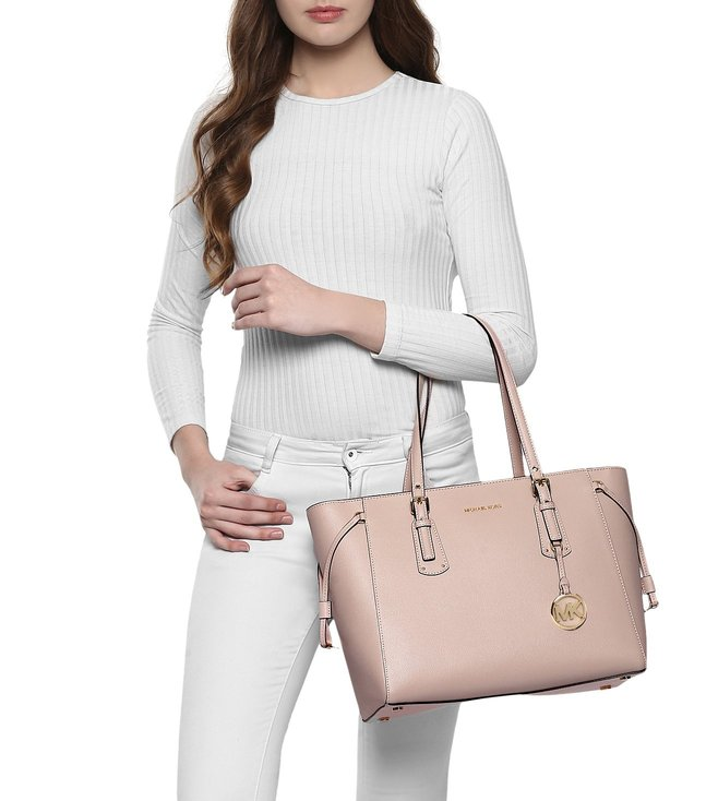 05784ca14b7e Buy MICHAEL Michael Kors Voyager Soft Pink Medium Leather Totes for ...