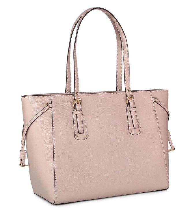 cbf1dff3fc3c Buy MICHAEL Michael Kors Voyager Soft Pink Medium Leather Totes for Women  Online @ Tata CLiQ Luxury