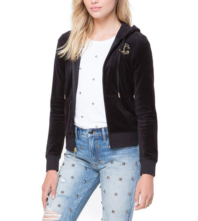 4f87b65f57f8 Buy Juicy Couture Black Velour Interwoven JC Robertson Jacket for ...