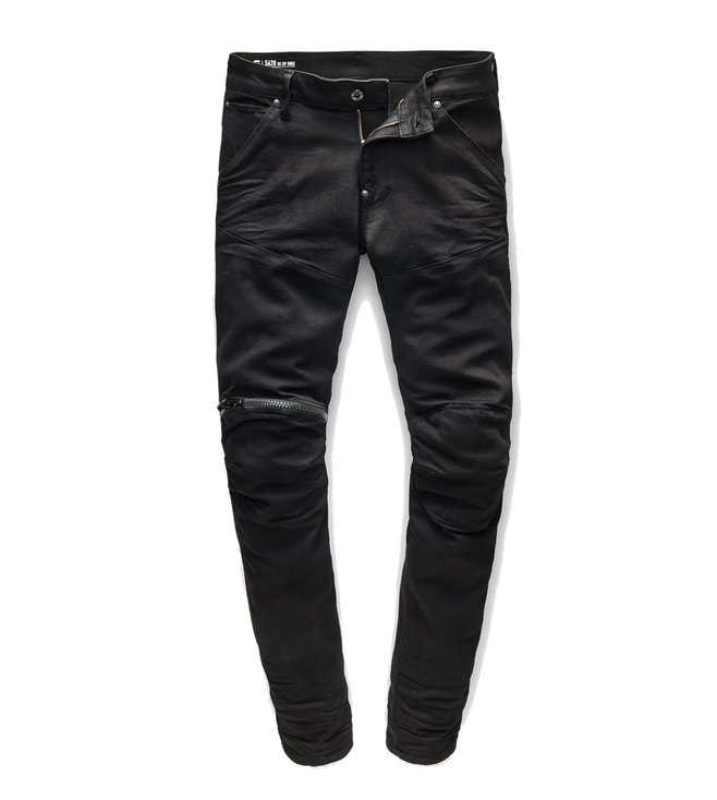dc9b32e2789 G-Star RAW. G-Star RAW Black 5620 3D Zip Knee Rinsed Skinny Fit Jeans ...
