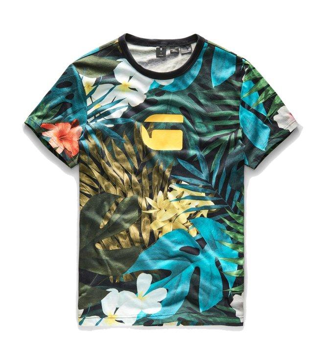 f4c97b40 Buy G-Star RAW Multicolor Aloha X25 Print T-Shirt for Men Online ...
