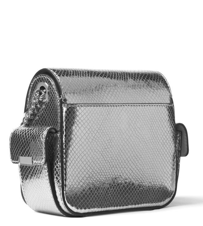 0d12a4efb0dc Buy MICHAEL Michael Kors Pewter Scout Metallic Camera Bag for Women ...