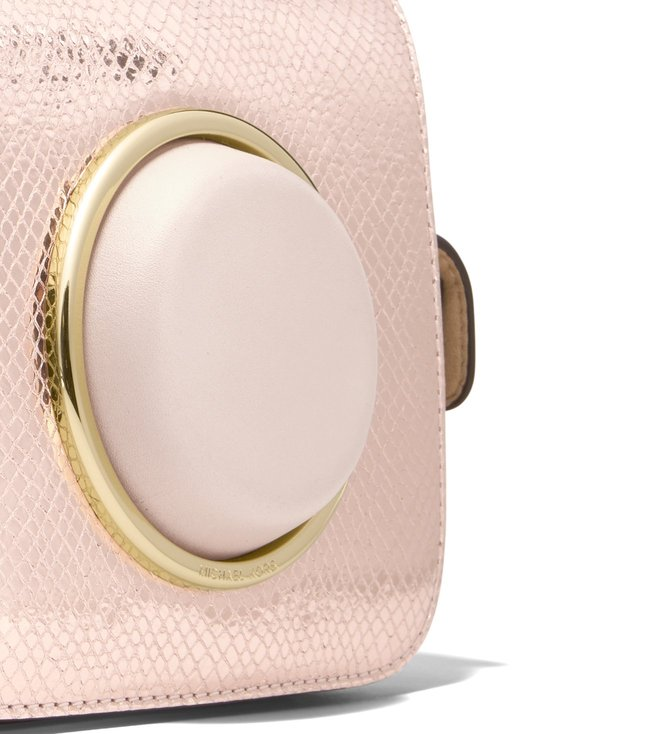 MICHAEL Michael Kors Soft Pink Scout Metallic Camera Bag