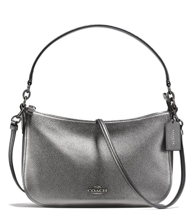 805eae712 Added to Bag. Coach Dark Gunmetal Metallic Graphite Chelsea Crossbody Bag