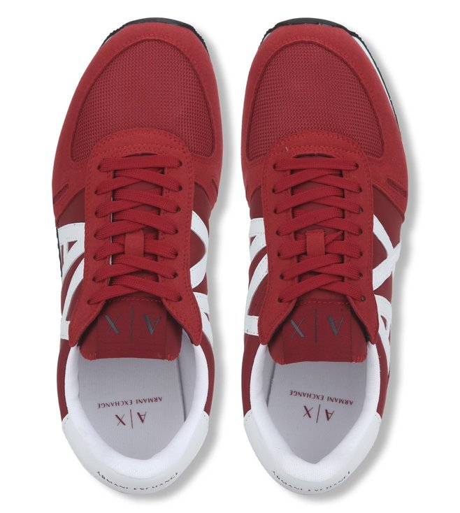 Armani Exchange Chili Pepper Retro Logo Sneakers