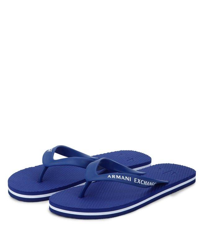 Armani Exchange Lapis Blue Flip Flops