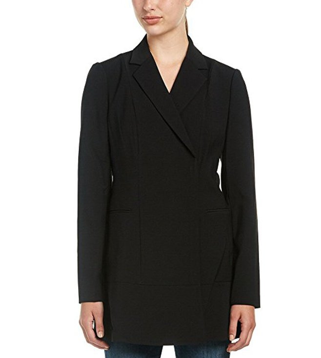 BCBG Maxazria Black Aryn Woven Cocktail Jacket