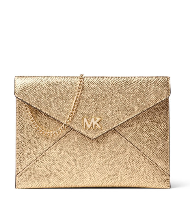 a4584d1c59b3f7 Buy Michael Michael Kors Barbara Pale Gold Clutch for Women Online ...