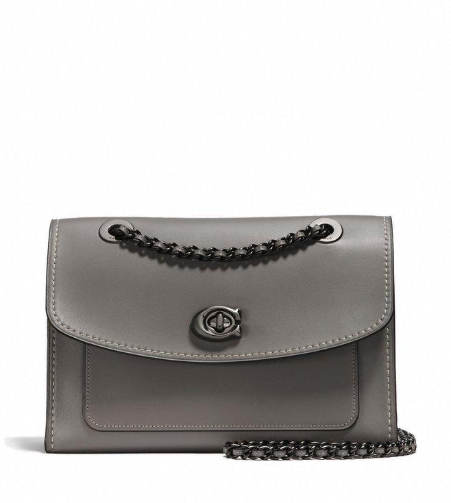 2aee6ec40452 Buy Coach Dark Heather Grey Leather Parker Shoulder Bag for Women ...