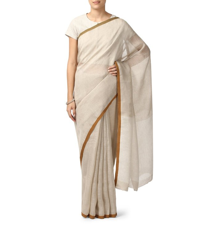 Anavila Natural Textured Everyday Wear Saree