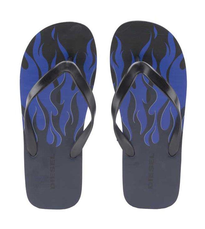 84582143ae927 Buy Diesel Black SA-Nihhao Flip-Flops for Men Online   Tata CLiQ Luxury