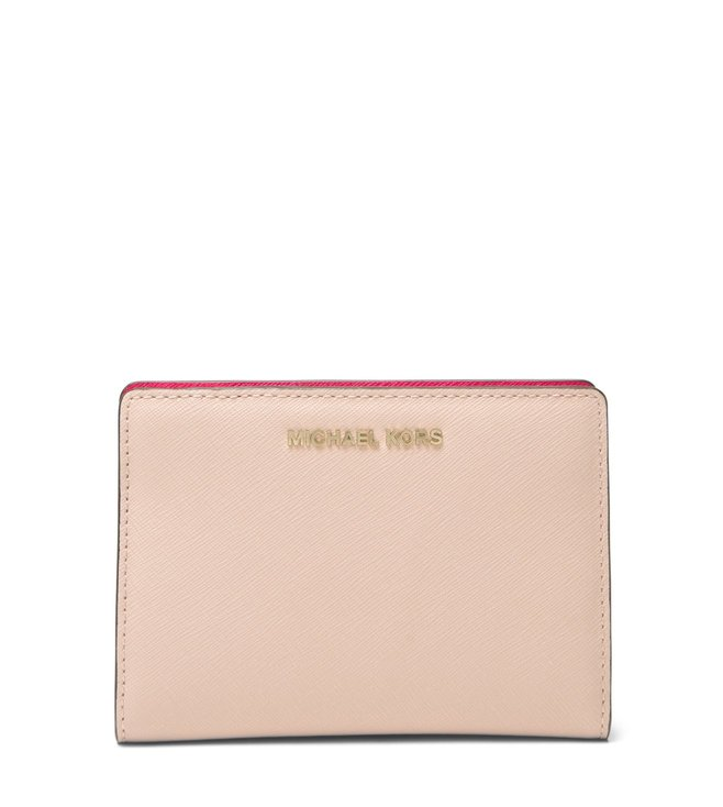 c3ed543e5251 Added to Bag. MICHAEL Michael Kors Soft Pink Jet Set Medium Leather Wallet