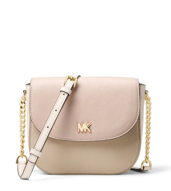 98ba2eec4f55 Added to Bag. MICHAEL Michael Kors Soft Pink   Cream Mott Cross Body Bag