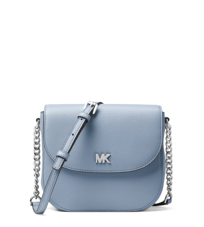 e6936d353579 Buy MICHAEL Michael Kors Pale Blue Mott Leather Cross Body Bag for ...