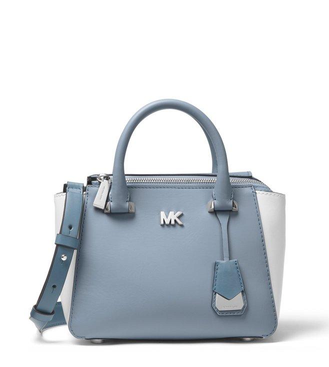 823e9980aa7b Buy MICHAEL Michael Kors Pale Blue & Optic White Nolita Satchel for ...