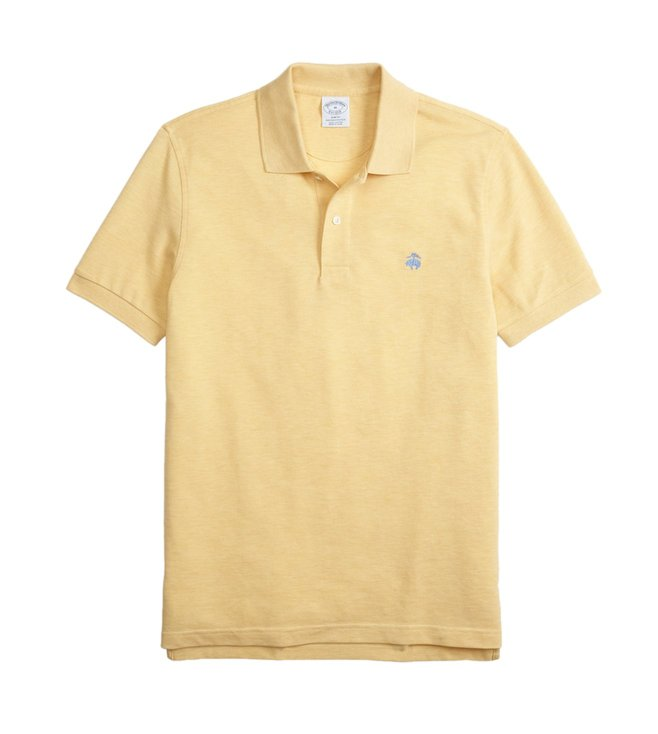 Brooks Brothers Yellow Supima Slim Fit Polo T-Shirt