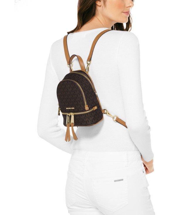 4ed0775f1a8a Buy MICHAEL Michael Kors Brown Rhea Mini Zip Backpack for Women ...