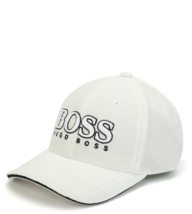 3c5ccbcdac7 Buy Hugo Boss White US Baseball Cap for Men Online   Tata CLiQ Luxury