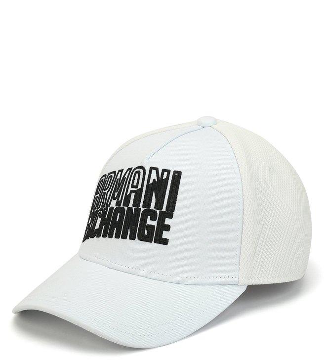 Armani Exchange Bianco Printed Sports Baseball Cap