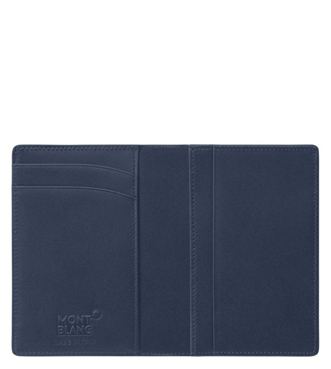 7cb1de6c47d6c9 Buy Montblanc Navy Meisterstuck Business Card Holder With Gusset ...
