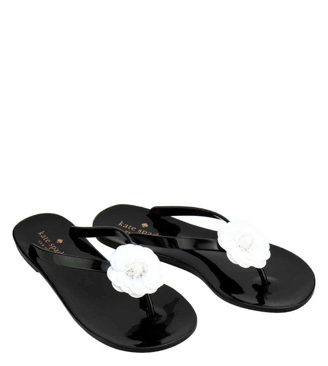 292f08499933 Buy Kate Spade Black Fiorina Flip-Flops for Women Online   Tata CLiQ ...