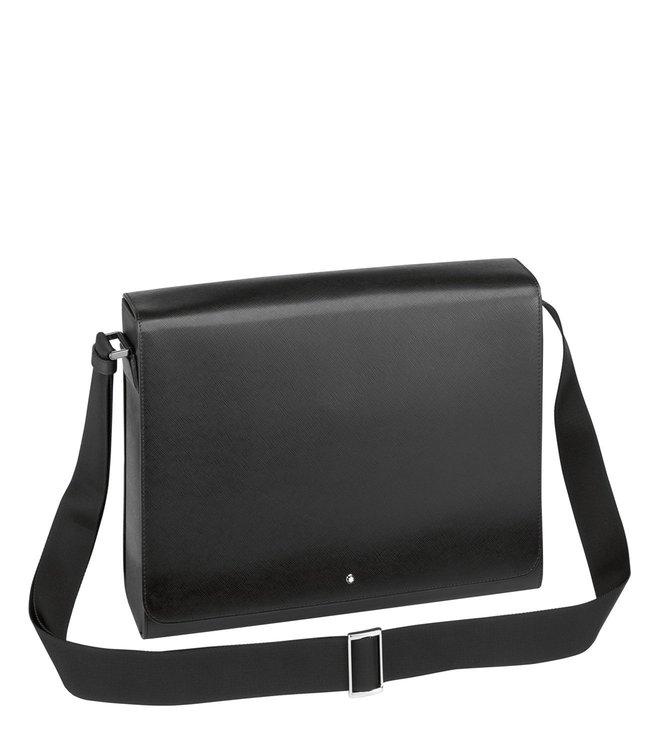 84d541bdb6 Buy Montblanc Black Sartorial Textured Cross Body Bag for Men Online ...
