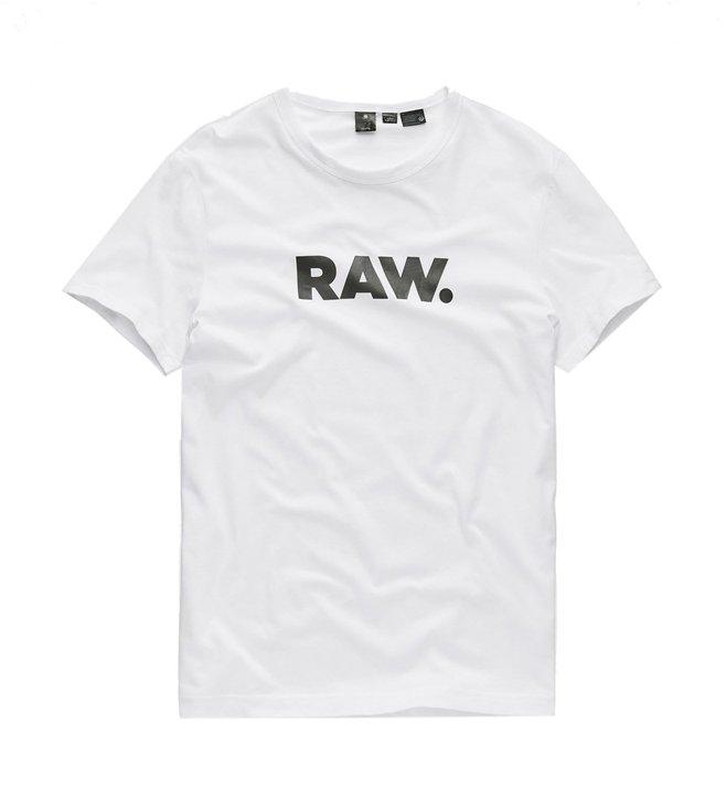 415e8876e8f0 Buy G-Star RAW White Logo Print Horlorn T-Shirt for Men Online ...