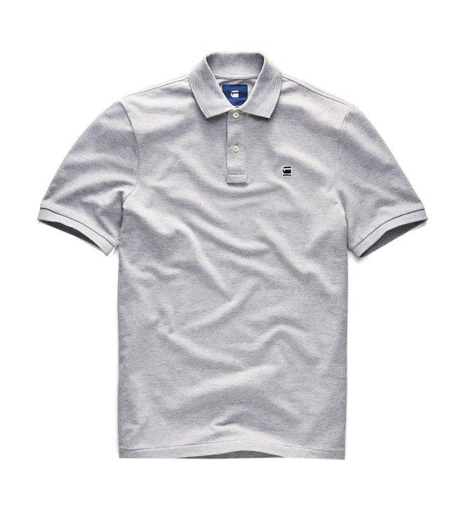 pretty nice f9930 a4529 G-Star RAW Grey Heather Dunda Polo T-Shirt