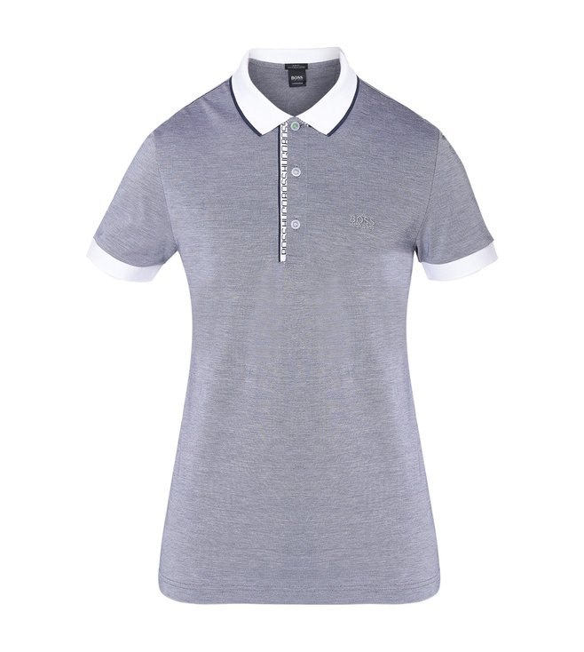 242328a6c Buy Hugo Boss Grey & White Athleisure Paule 4 Polo T-Shirt for Men ...
